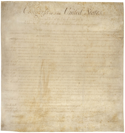 Bill of Rights picture. Click on image for larger version.