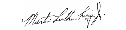 Martin Luther King's signature.