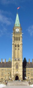 The Peace Tower in Ottawa, Canada