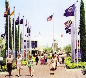 Avenue of Flags, Disneyland, 1956-1966