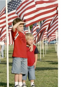Boys Salute with border